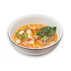 Острый суп с лососем